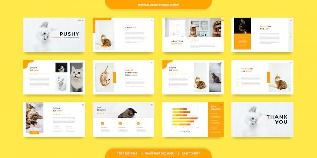 Modelo de apresentação de slides mínimos