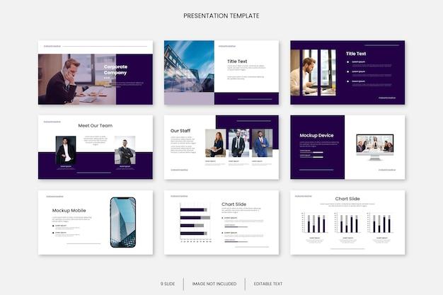Modelo de apresentação de slides multifuncional para negócios médicos