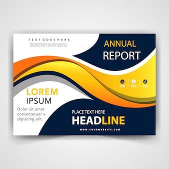 Modelo de apresentação do flyer abstrato