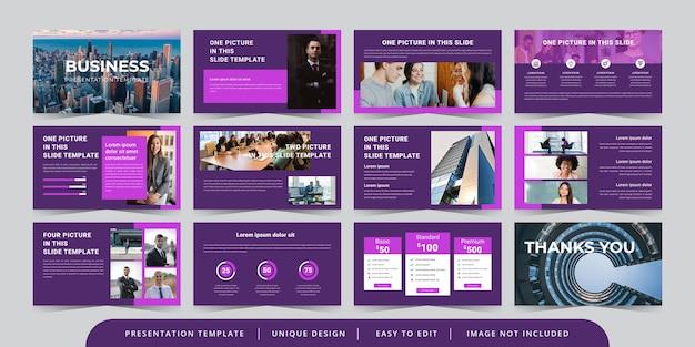 Modelo de apresentação em powerpoint editável de slides de negócios mínimos