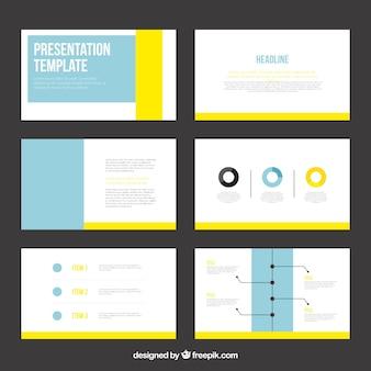 Modelo de apresentação infográfico