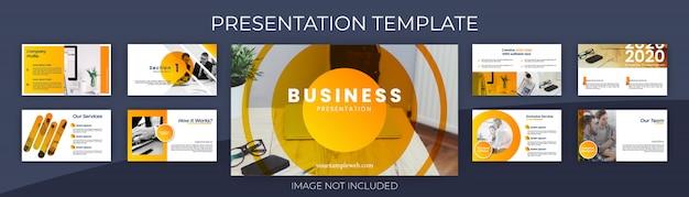 Modelo de apresentação para negócios e conceito de apresentação formal. design simples e moderno.