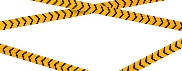 Modelo de área restrita. fita amarela de proteção de segurança