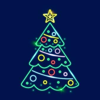 Modelo de árvore de natal neon