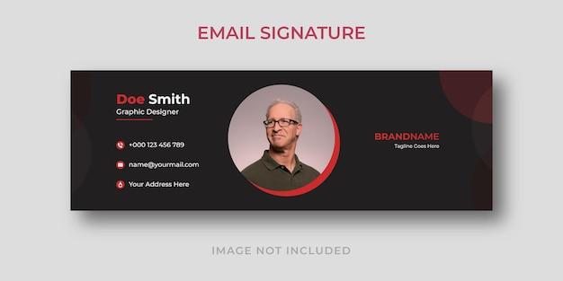Modelo de assinatura de e-mail comercial criativo