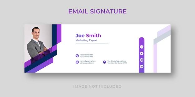 Modelo de assinatura de e-mail corporativo de marketing digital