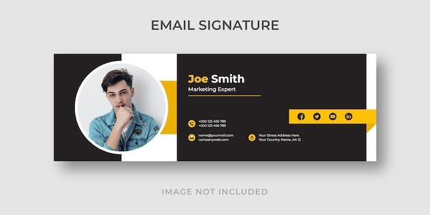 Modelo de assinatura de e-mail corporativo elegante