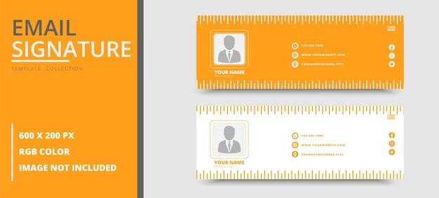 Modelo de assinatura de e-mail corporativo ou rodapé de e-mail e capa pessoal do facebook premium