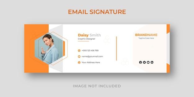 Modelo de assinatura de e-mail corporativo