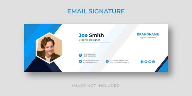 Modelo de assinatura de e-mail criativo e profissional moderno