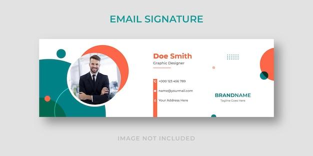 Modelo de assinatura de e-mail da empresa