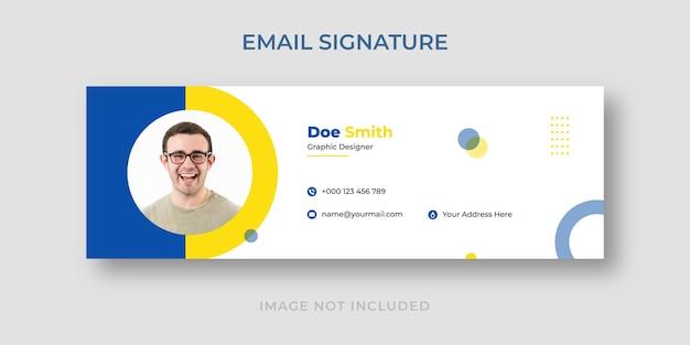 Modelo de assinatura de e-mail elegante