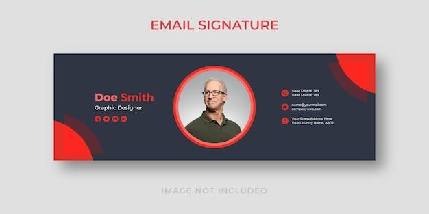 Modelo de assinatura de e-mail em estilo simples