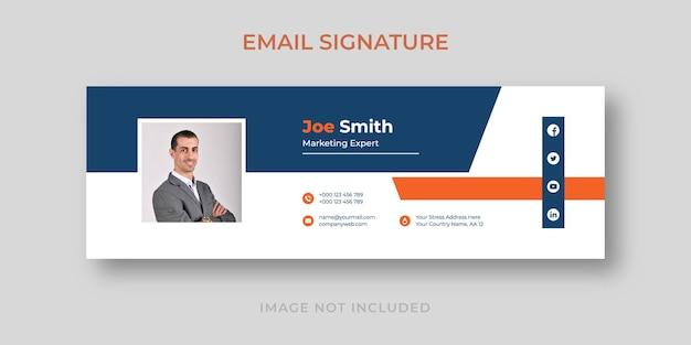 Modelo de assinatura de e-mail empresarial moderno