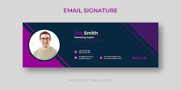 Modelo de assinatura de e-mail moderno de marketing digital