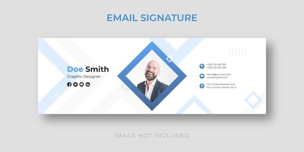 Modelo de assinatura de e-mail simples e limpo