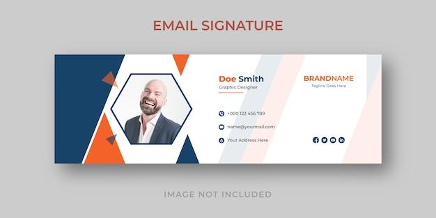 Modelo de assinatura de email e banner de mídia social