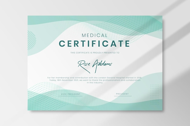 Modelo de atestado médico