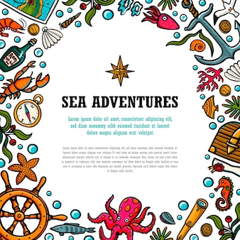 Modelo de aventuras no mar