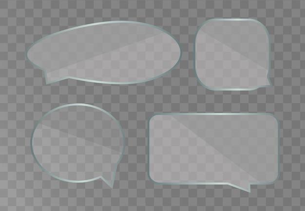 Modelo de balões de fala isolado no fundo branco