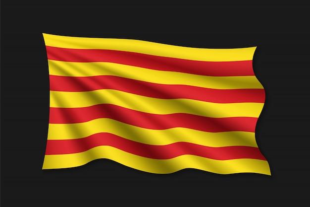 Modelo de bandeira da catalunha