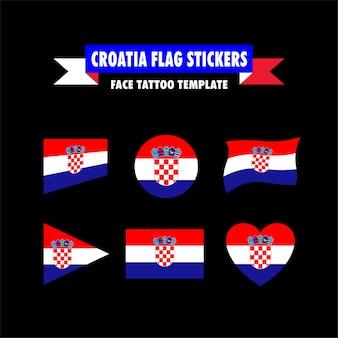 Modelo de bandeira da croácia