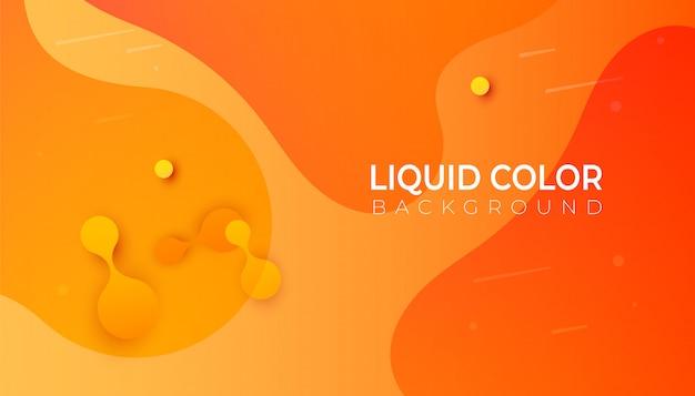 Modelo de bandeira de ondas de líquido plástico.