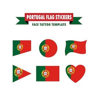 Modelo de bandeira de portugal