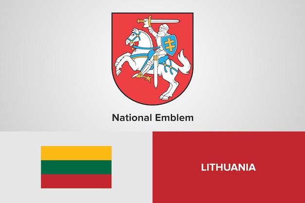 Modelo de bandeira do emblema nacional da lituânia