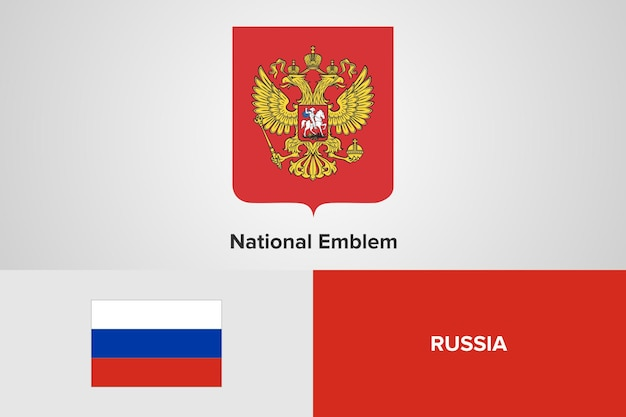 Modelo de bandeira do emblema nacional da rússia