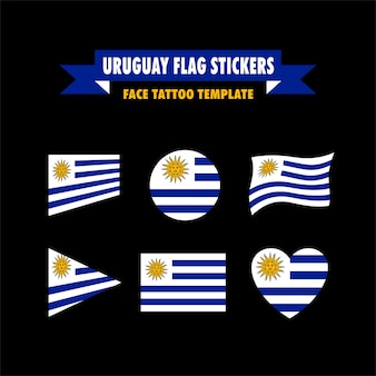 Modelo de bandeira do uruguai
