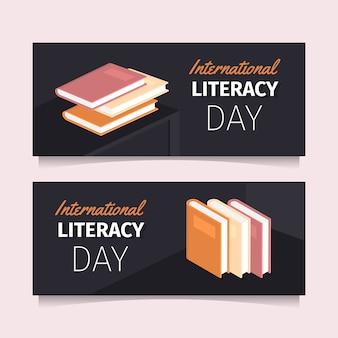 Modelo de bandeiras do dia internacional da literacia