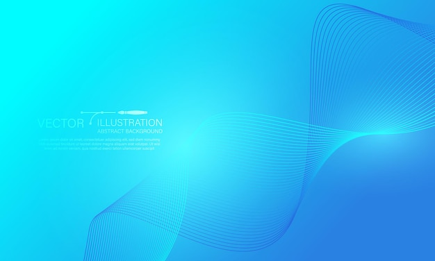 Modelo de banner abstrato azul escuro