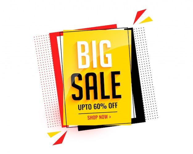 Modelo de banner abstrato de grande venda