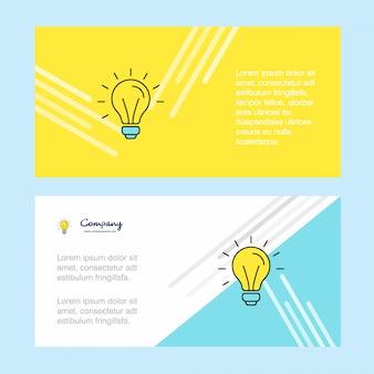 Modelo de banner abstrato de negócios corporativos de idéia