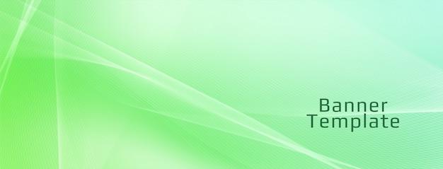 Modelo de banner abstrato elegante onda