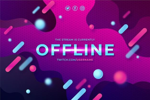 Modelo de banner abstrato twitch offline
