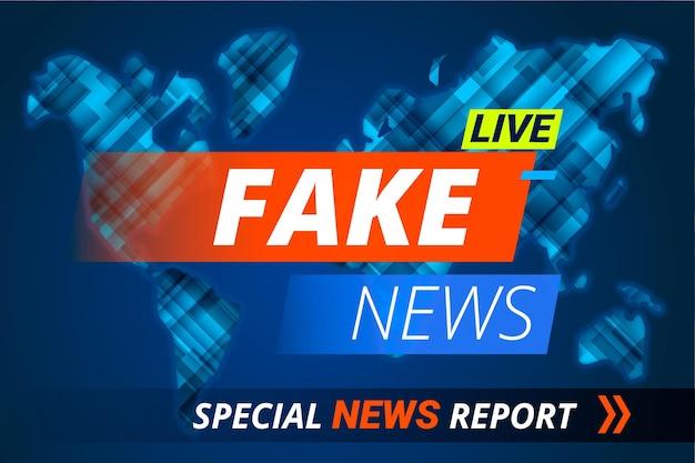 Modelo de banner ao vivo notícias falsas