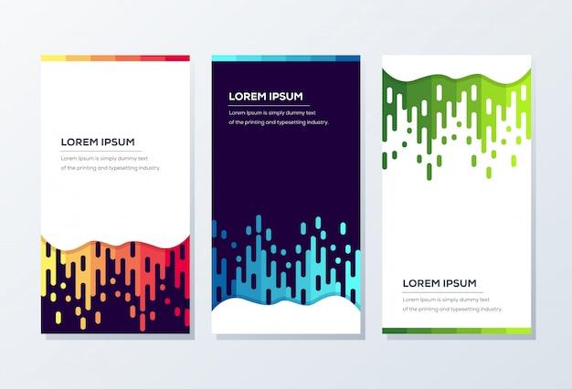 Modelo de banner. apresentação e brochura
