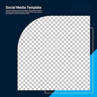 Modelo de banner azul de mídia social