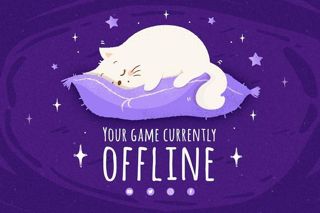 Modelo de banner bonito contração offline