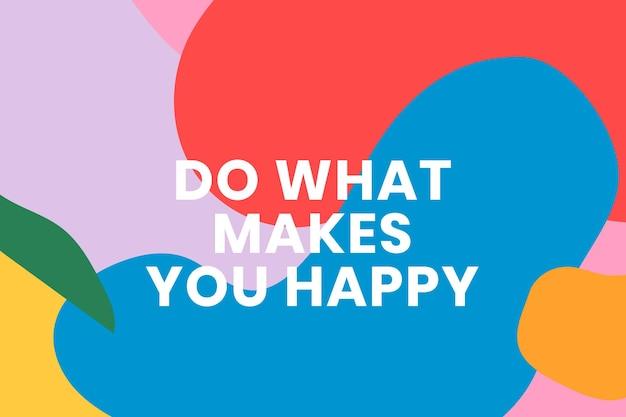 Modelo de banner colorido com citação motivacional
