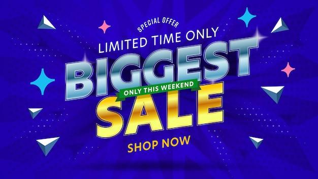Modelo de banner com a maior oferta especial de super venda.