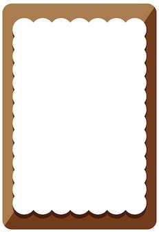 Modelo de banner com moldura de onda marrom vazia