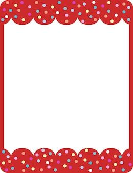 Modelo de banner com moldura de onda vermelha vazia