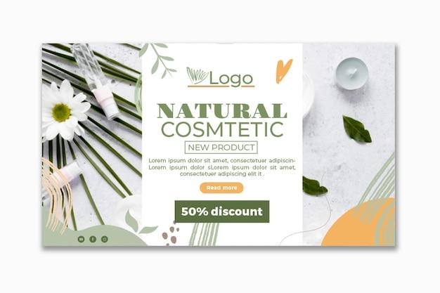 Modelo de banner cosmético com foto