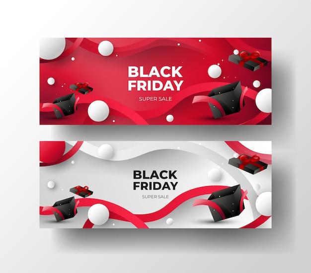Modelo de banner da black friday com design minimalista