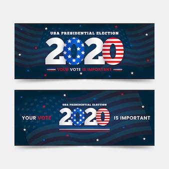 Modelo de banner da eleição presidencial dos eua em 2020