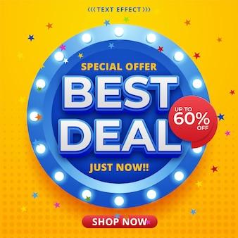 Modelo de banner da melhor oferta em cores brilhantes