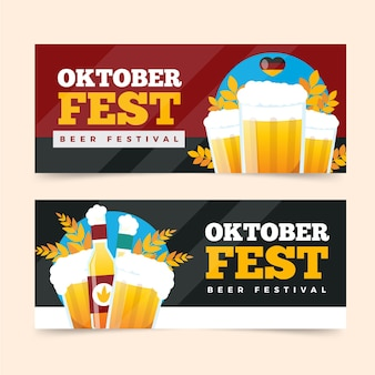 Modelo de banner da oktoberfest